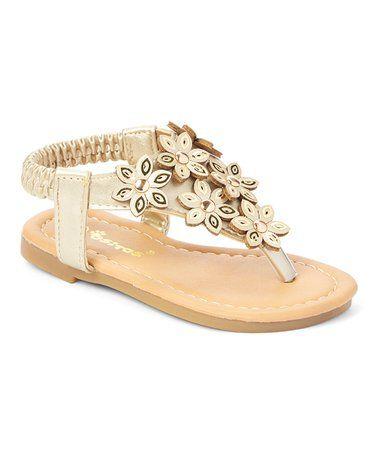 e9cd9e8699eb Love this Gold Rhinestone-Floral Sandal - Girls on  zulily!  zulilyfinds