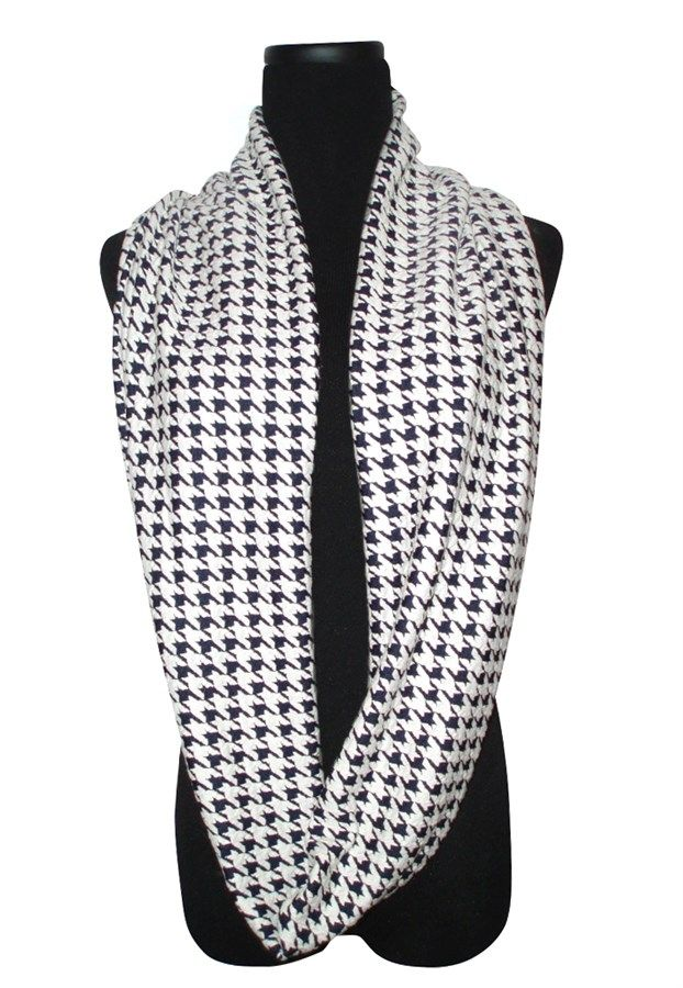 Chic Houndstooth Infinity Scarf ONLY $9.95 75% OFF SALE