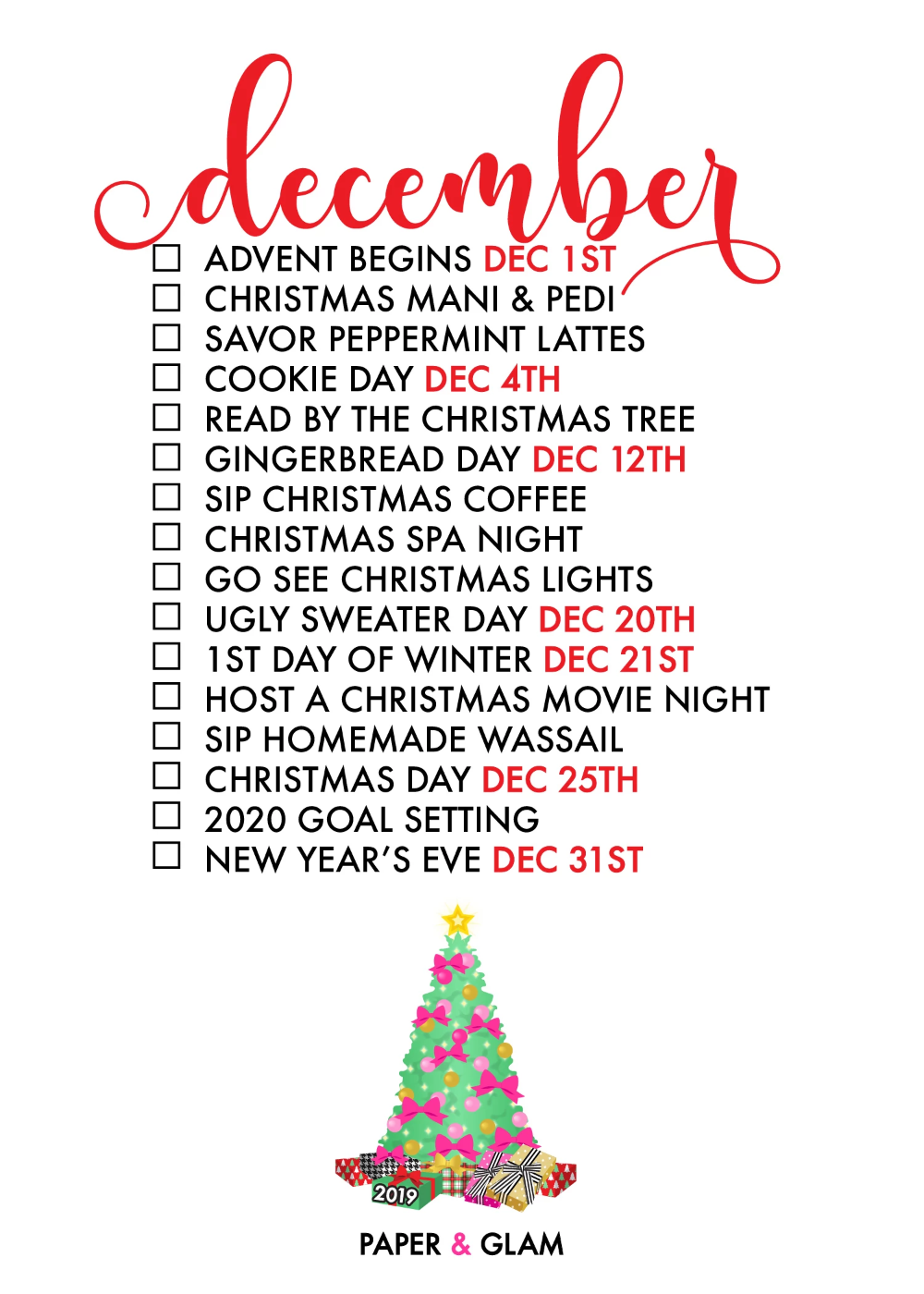December Seasonal Living List Christmas Christmas Time Christmas Fun