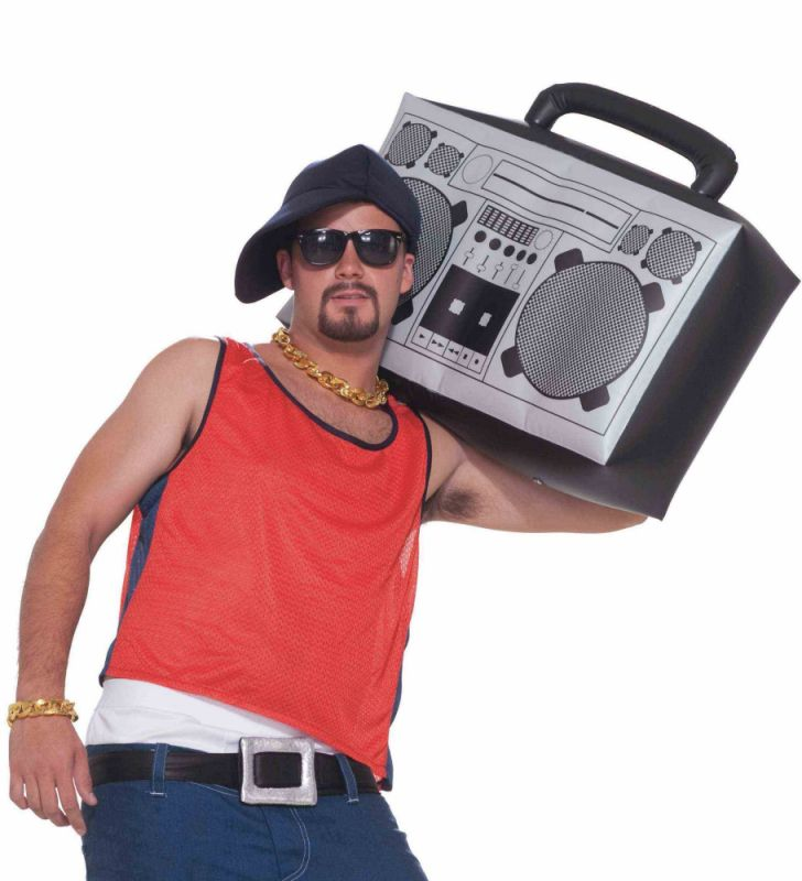 Inflatable boom box box costumes boombox 80s hip hop