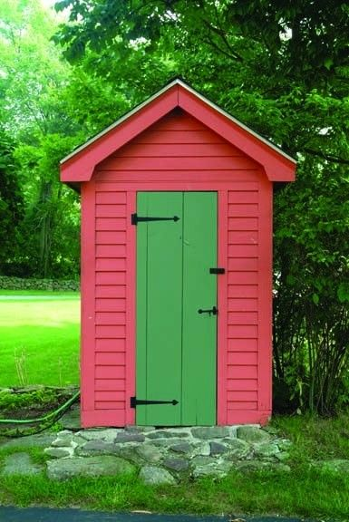 Garden Sheds Painted brightly painted garden shed looks striking and beautiful. more