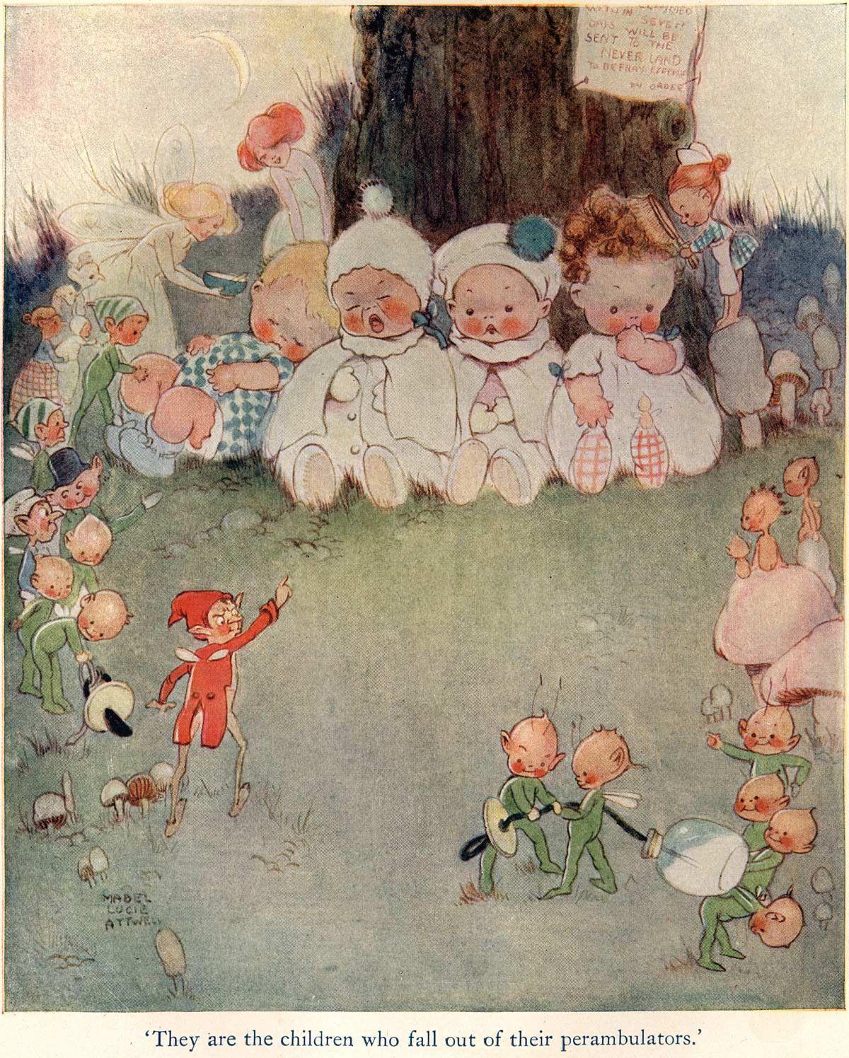 Original Peter Pan, 1921 Mabel Lucie Attwell Peter Pan and Wendy