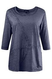 Plus Size Devore Seamed Top