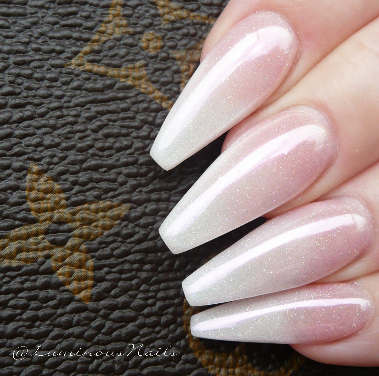 Stunning Pearly Ombre Chrome, Sculptured Acrylic Nails. Gold Coast ...