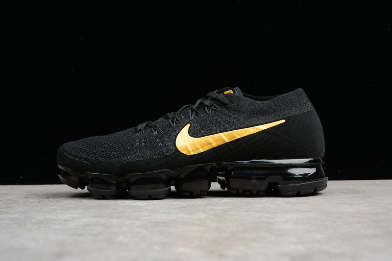 the best attitude 9aa96 33a24 nouvelle arrivee Nike Air Vapor Max 2018 Flyknit Black Golden Yellow  AA3851-107