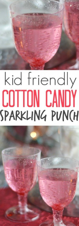 #drink #kidfriendly #cottoncandy This is such a fun and festive drink to make for your kids for any special occasion. I love it because you can easily make one or 20 drinks without much more work. Plus the kids can make it all on their own too! #newyearsdrinks