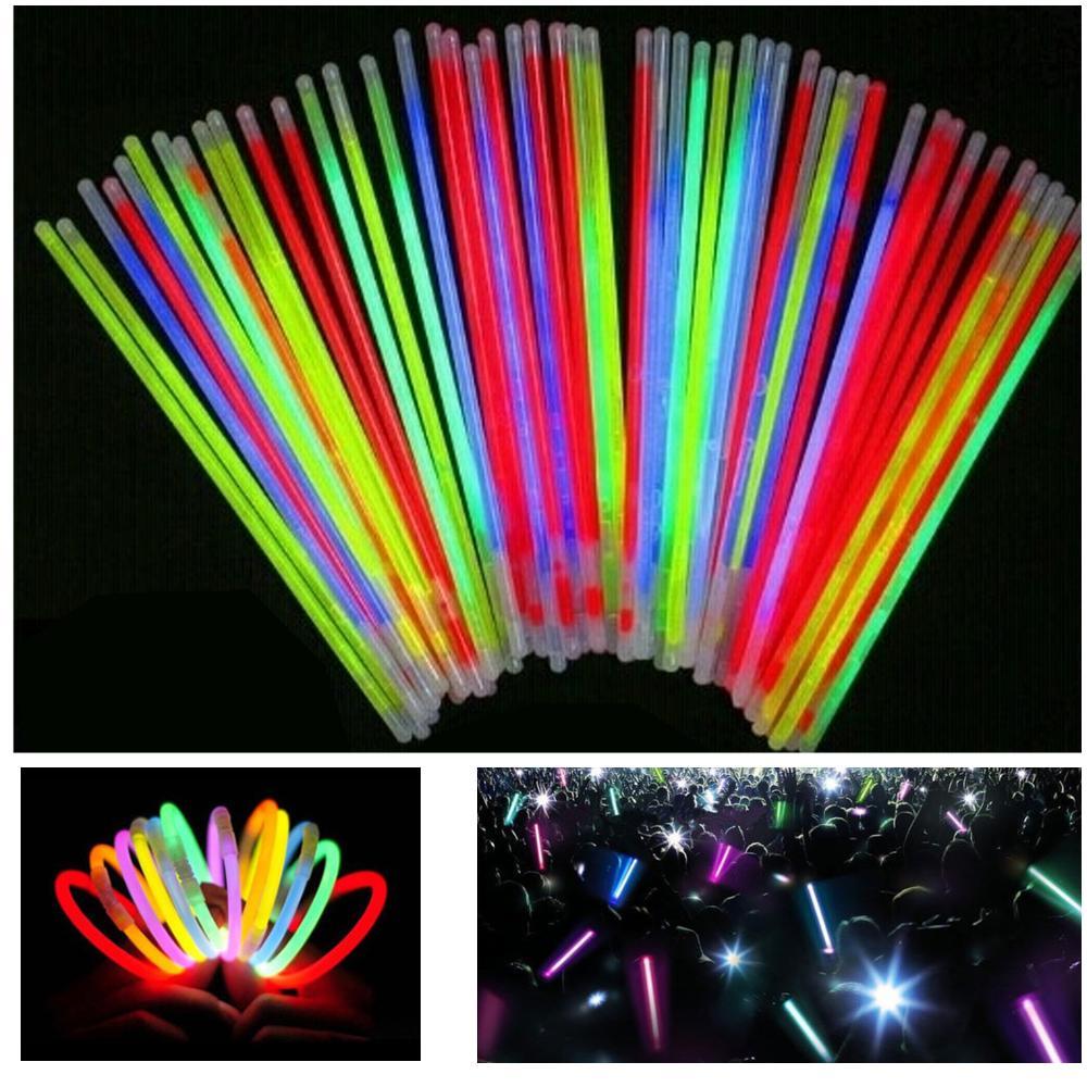 Neon Flourescent Glow Sticks Fiestas De Cumpleanos De Neon
