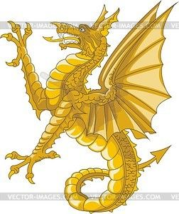 Heraldic supporter - sea dragon - vector clipart | Designs for ...
