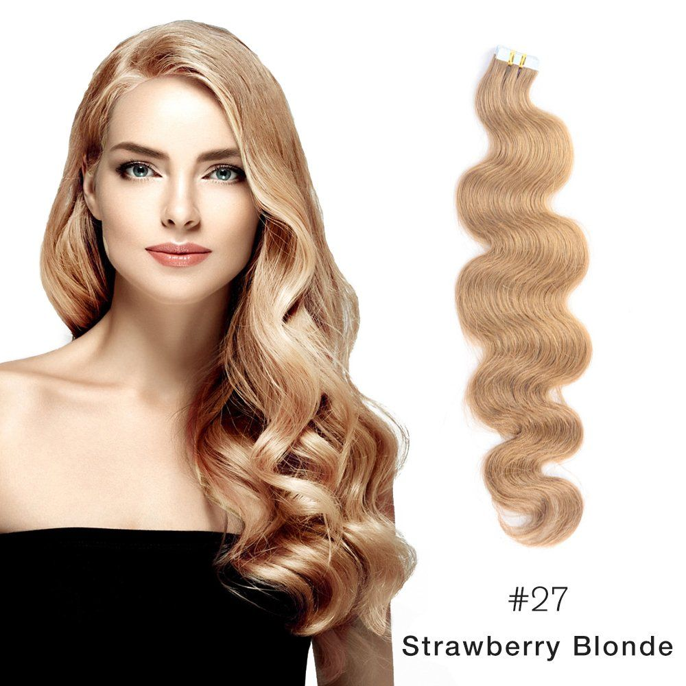 Make Your Hair Glamorous Instantly With 27 Strawberry Blonde Tape