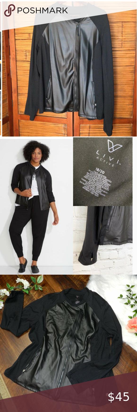 Lane Bryant Livi Active Black Faux Leather Panel Clothes Design Black Faux Leather Lane Bryant [ 1740 x 580 Pixel ]
