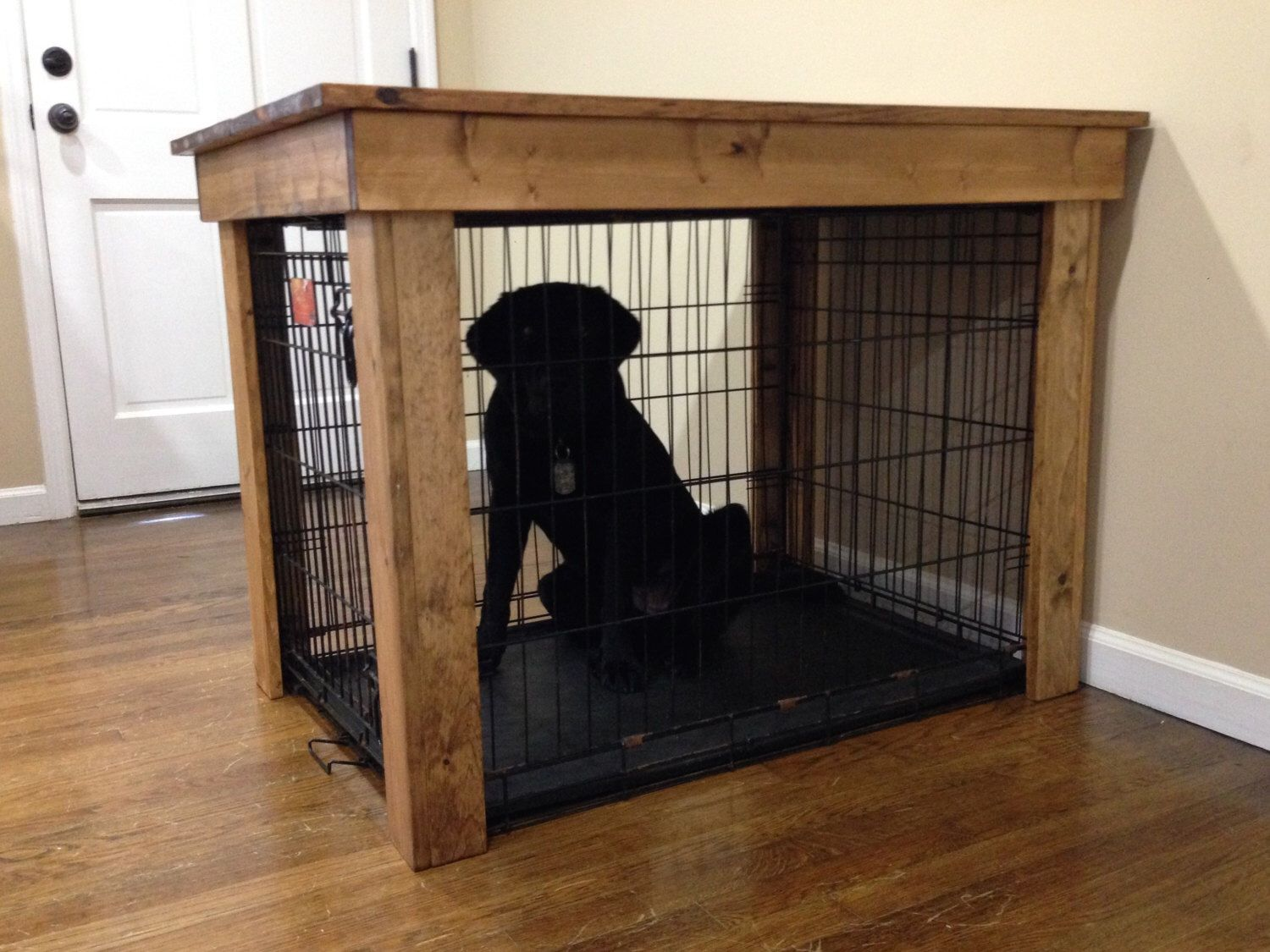 Dog crate cover pet crate cover dog crate furniture for Diy crate furniture