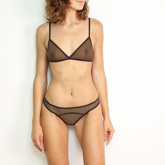 13b7a3601645 #Underwear #Lingerie_set #Mesh #lingerie #Dark_brown #tangelo #Panties with  a