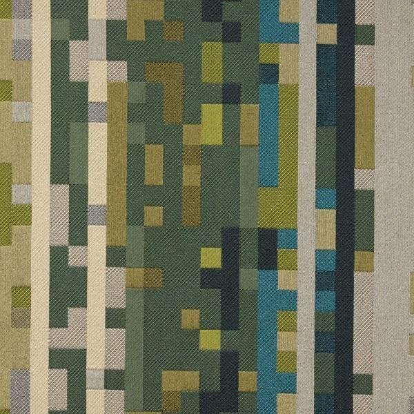 Anagram Electric Pixelated Geometric Upholstery Fabric