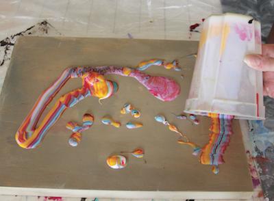 Mix then pour acrylic painting technique painting for Acrylic painting materials and techniques