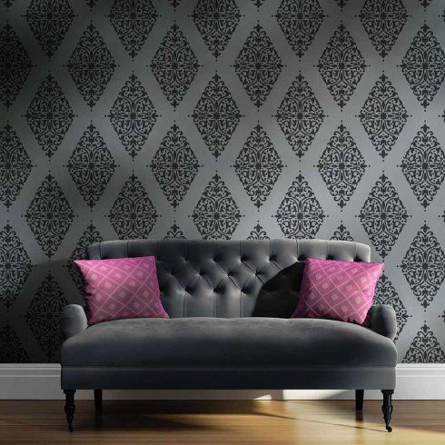this fabulous arabesque brocade damask stencil is perfect for your rh pinterest com