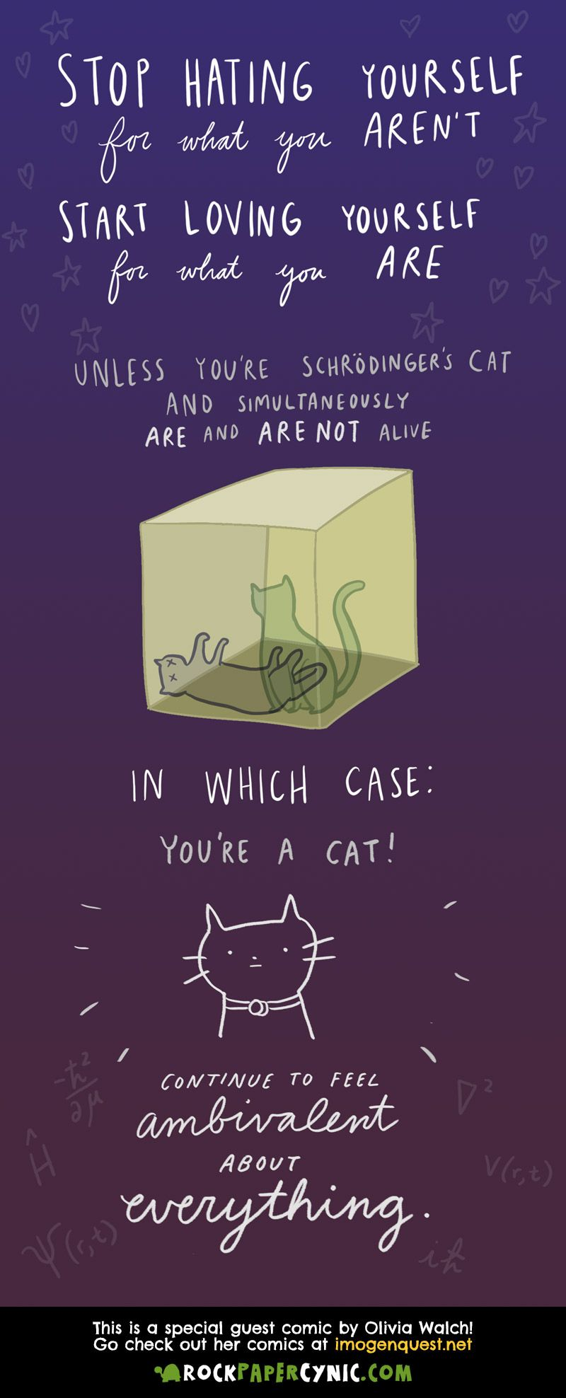 03483ebdc What Schrodinger's Cat says about being true to yourself (guest comic by  Olivia Walch!)