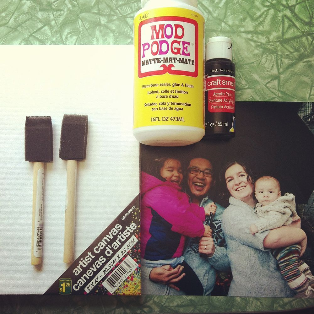 How To Mount A Photo To Canvas For $5.00   Mod podge ...