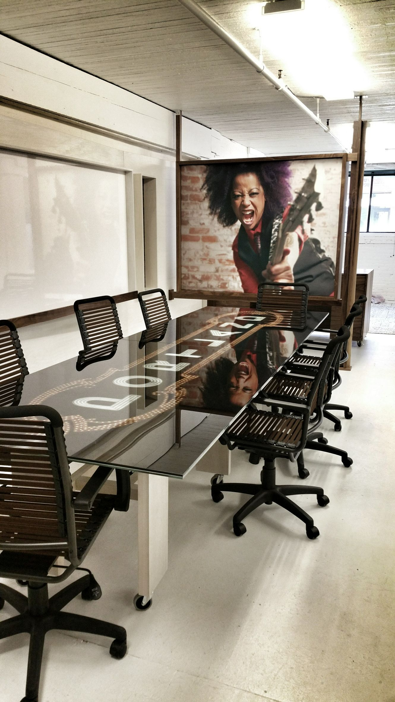 MYODO Custom Glass Conference Table MYODO Architectural Glass - Custom glass conference table