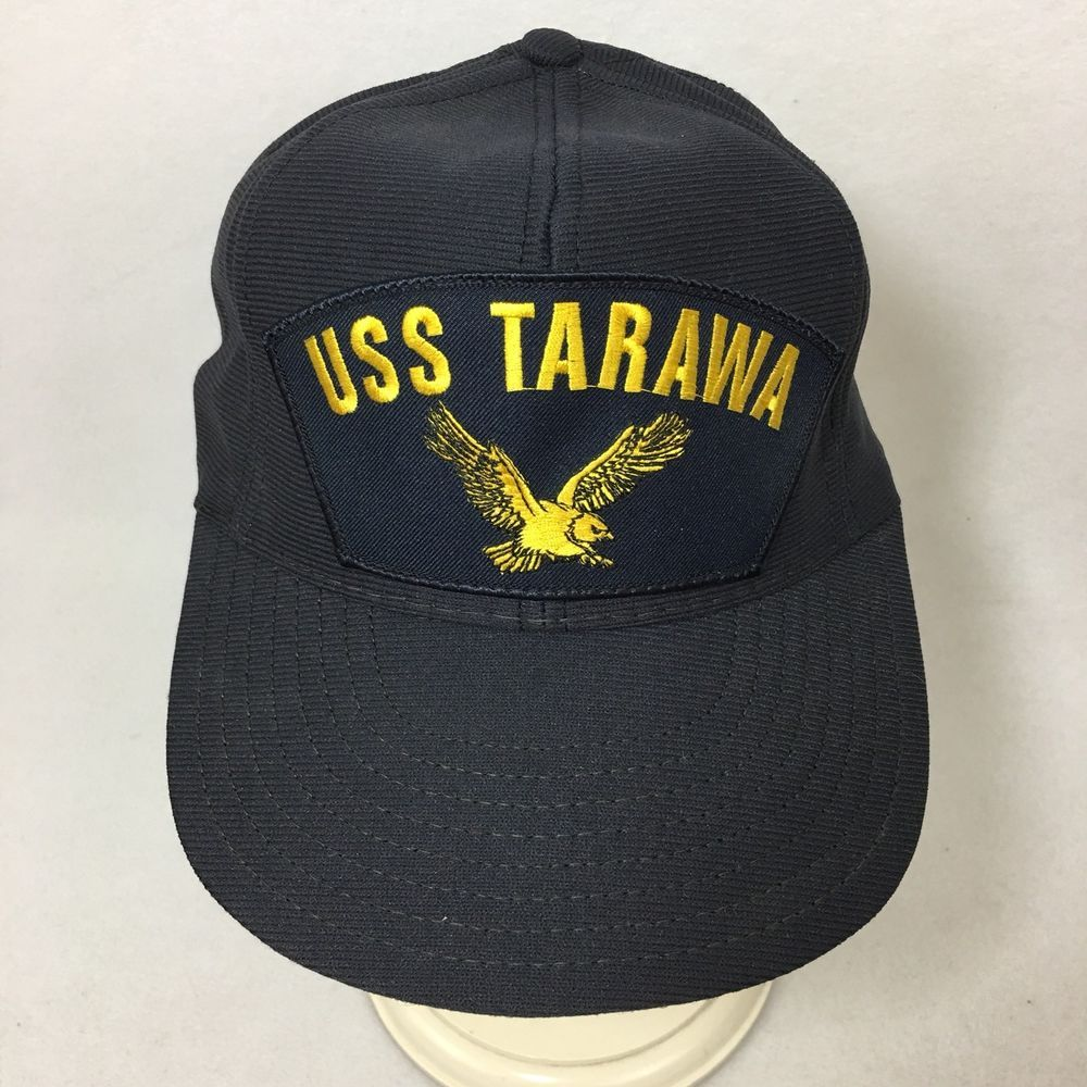 429a7050af1 VTG New Northstar USS Tarawa Snapback Hat Aircraft Carrier Cap Made USA  With Tag  NorthStar  BaseballCap