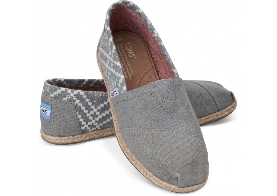 TOMS Denim Embroidered Women's Classics | Stepped up staple for any season  #BAM