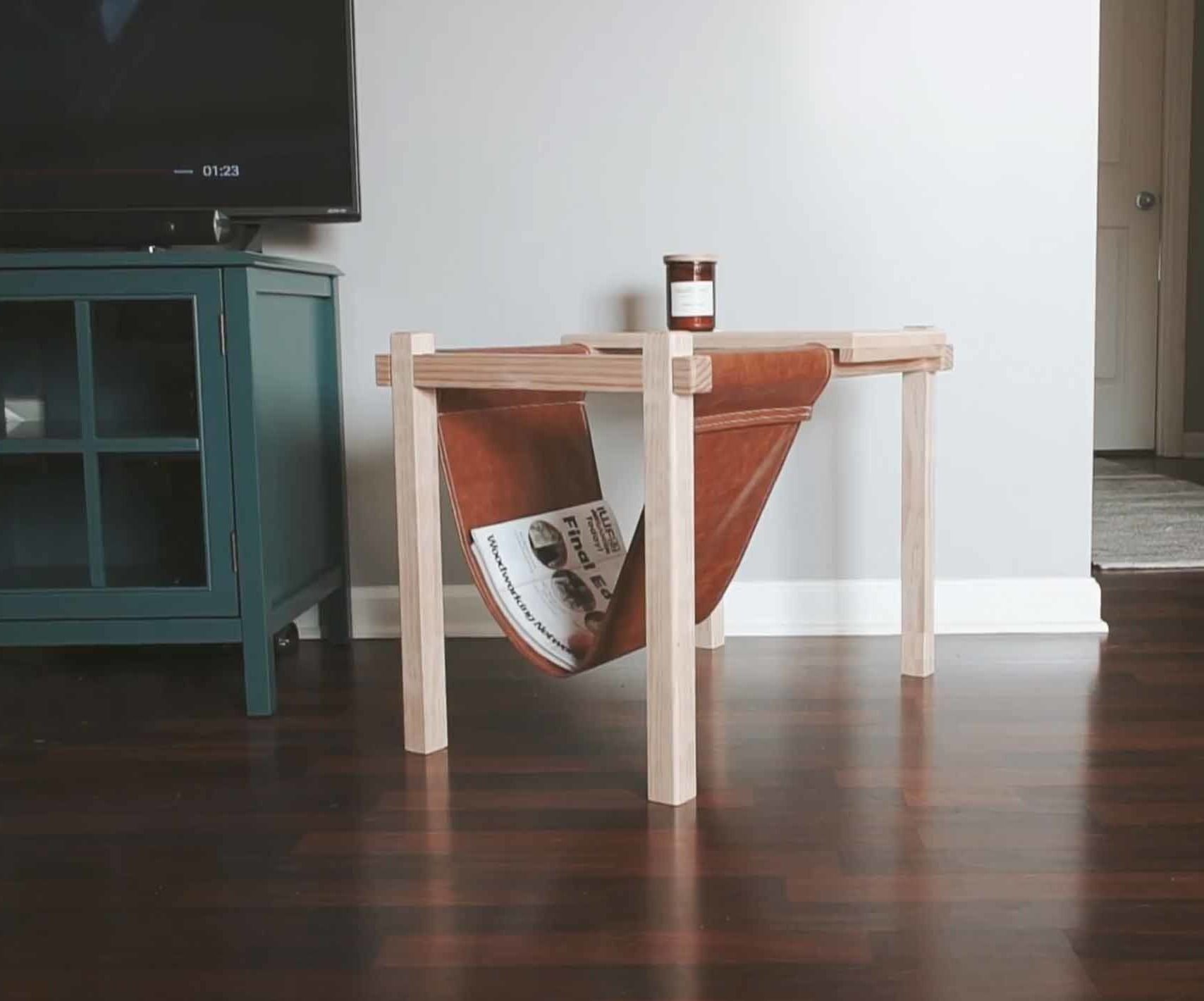 diy side tables with fabric magazine rack new ideas pinterest rh pinterest com