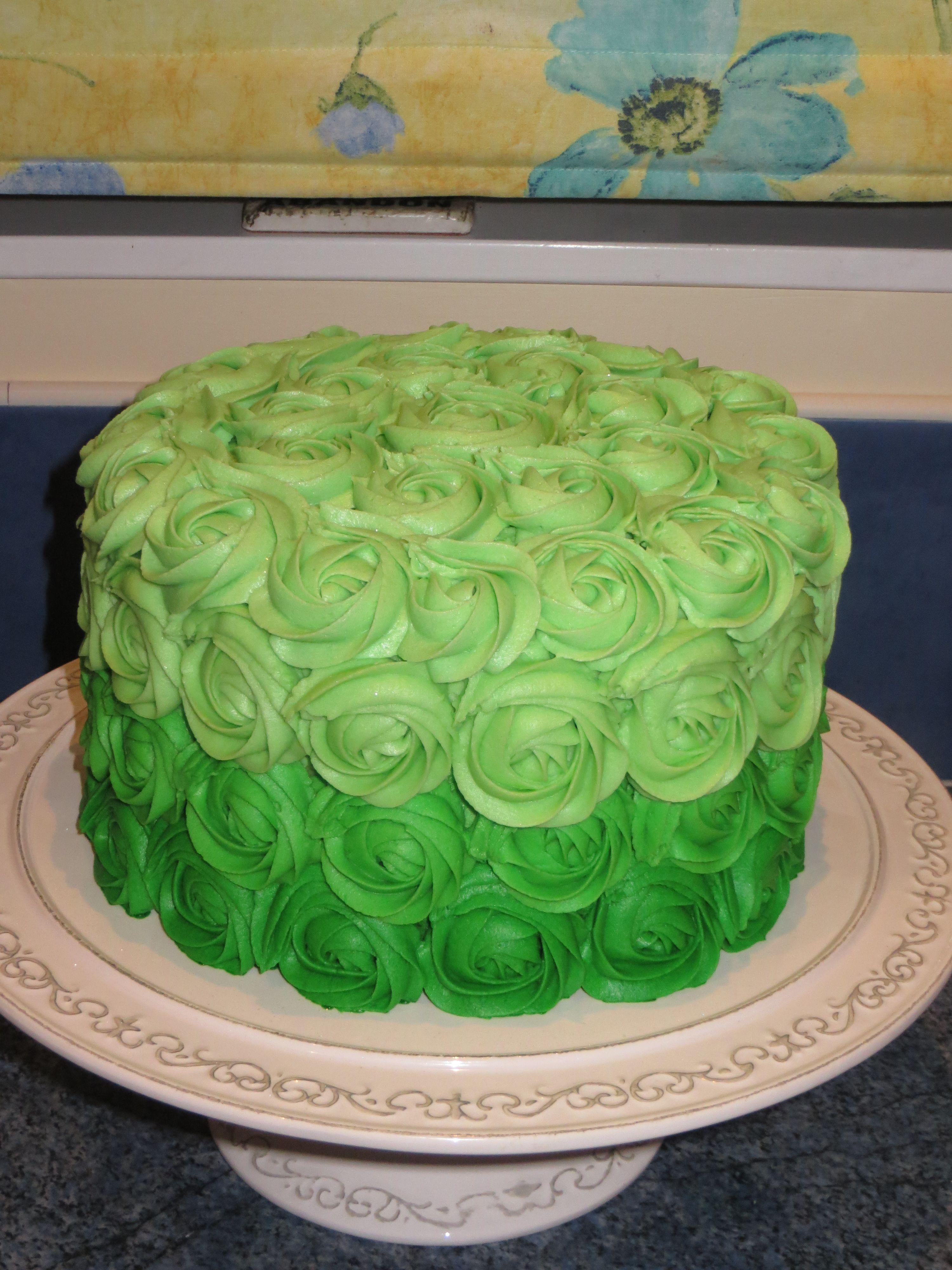 Elegant rose swirl cake covered in eatable glitter. | Rose ...