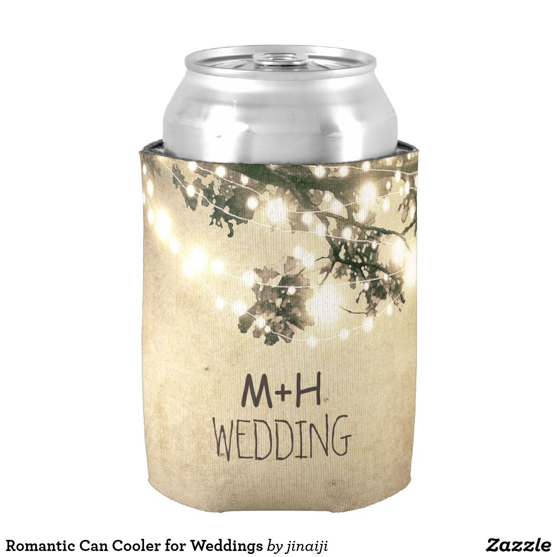 Romantic Can Cooler for Weddings | Wedding koozies, Favors and ...