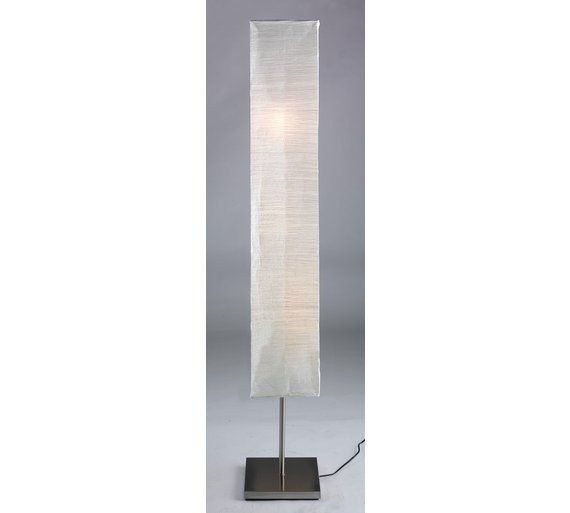 Paper Shade Floor Lamp Adorable Buy HOME Square Paper Shade Floor Lamp Silver At Argoscouk
