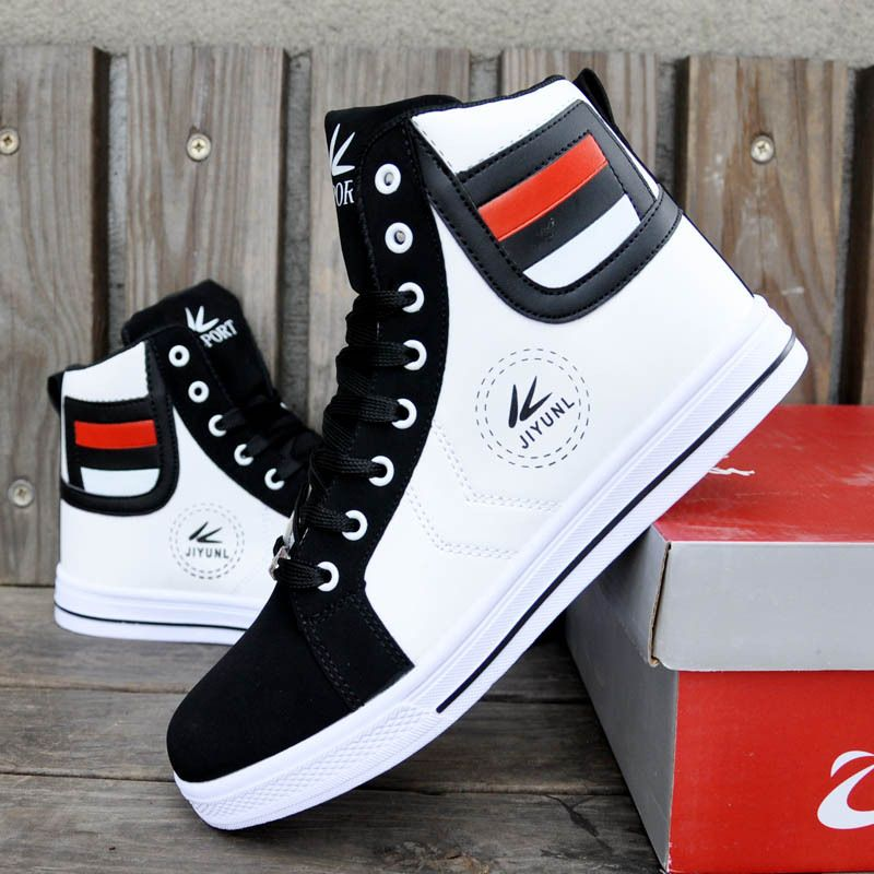 High Top Men's Sneakers Mixed Colors Leisure Shoes Men Casual Sports Shoes  Fashion Height Increasing Sneakers For Men