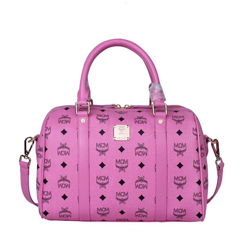 MCM Pink Genuine Leather, Size W32 H22 D15CM Hangbags