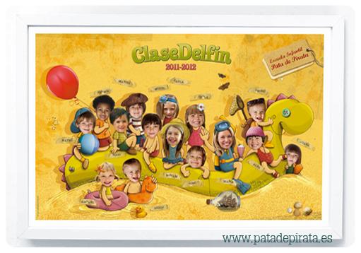 """Ilustración, orlas, Invitaciones bautizo, comunión, cumpleaños, diseño grafico: ORLA """"VACACIONES PIRATA"""""""
