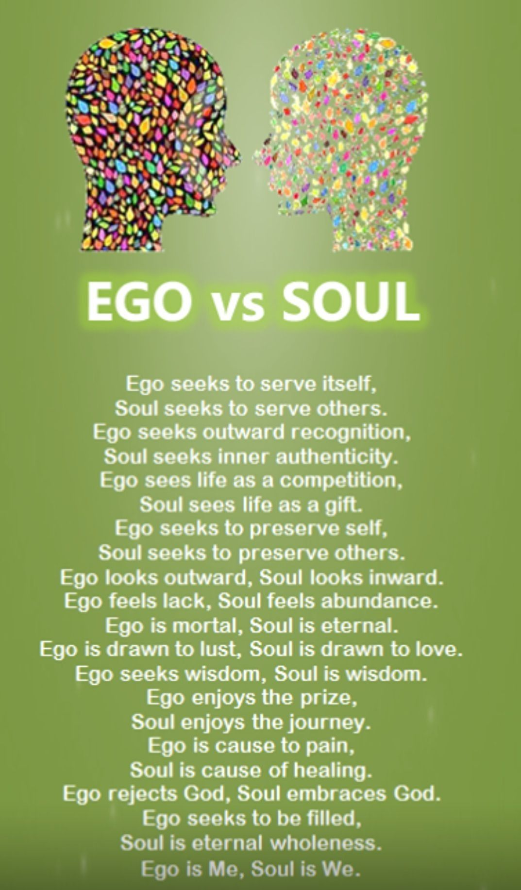 Lose The Ego Find Your Life Learn Pinterest Ego Vs Soul