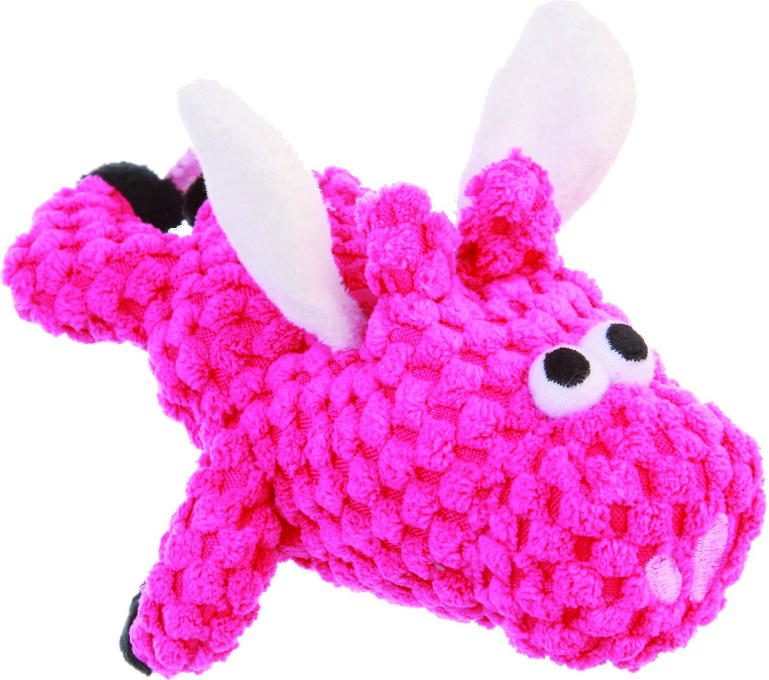 GoDog Just for Me Chew Guard Flying Pig Squeaky Plush Dog