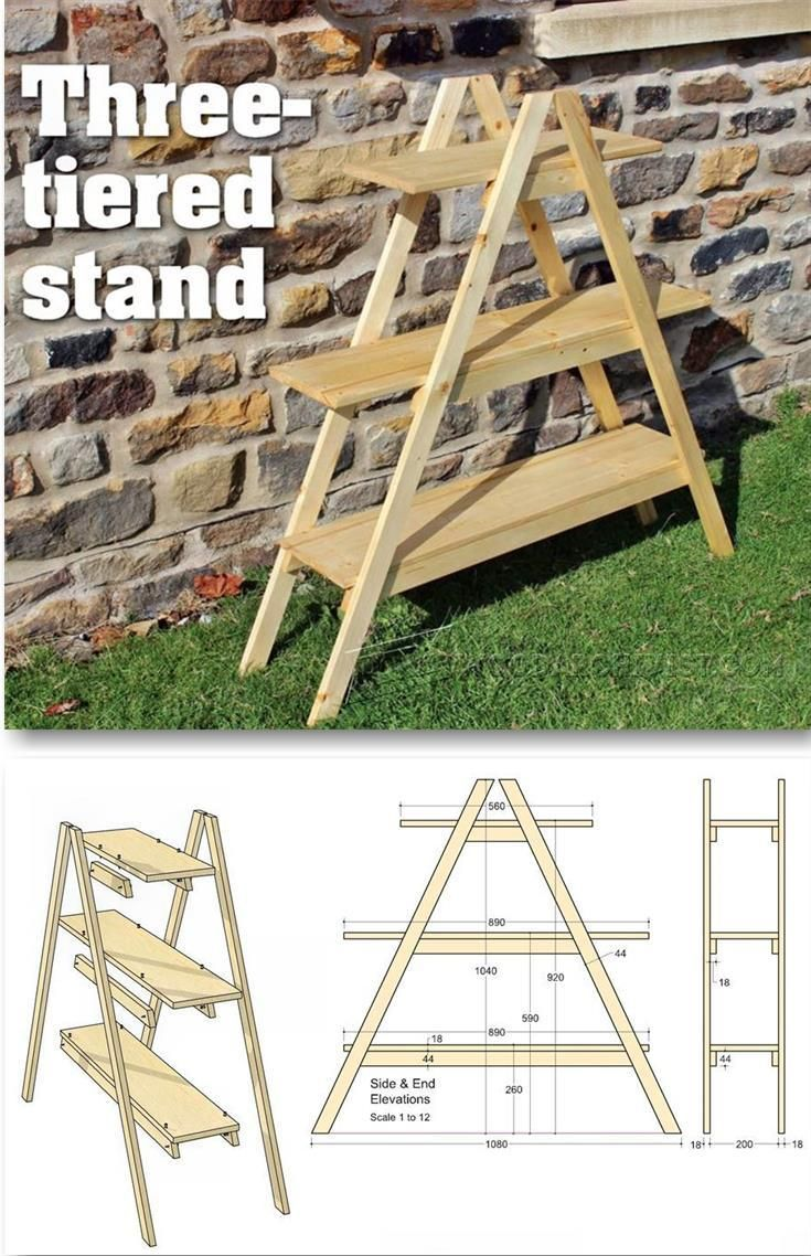 Outdoor Plant Stand Plans Outdoor Plans And Projects