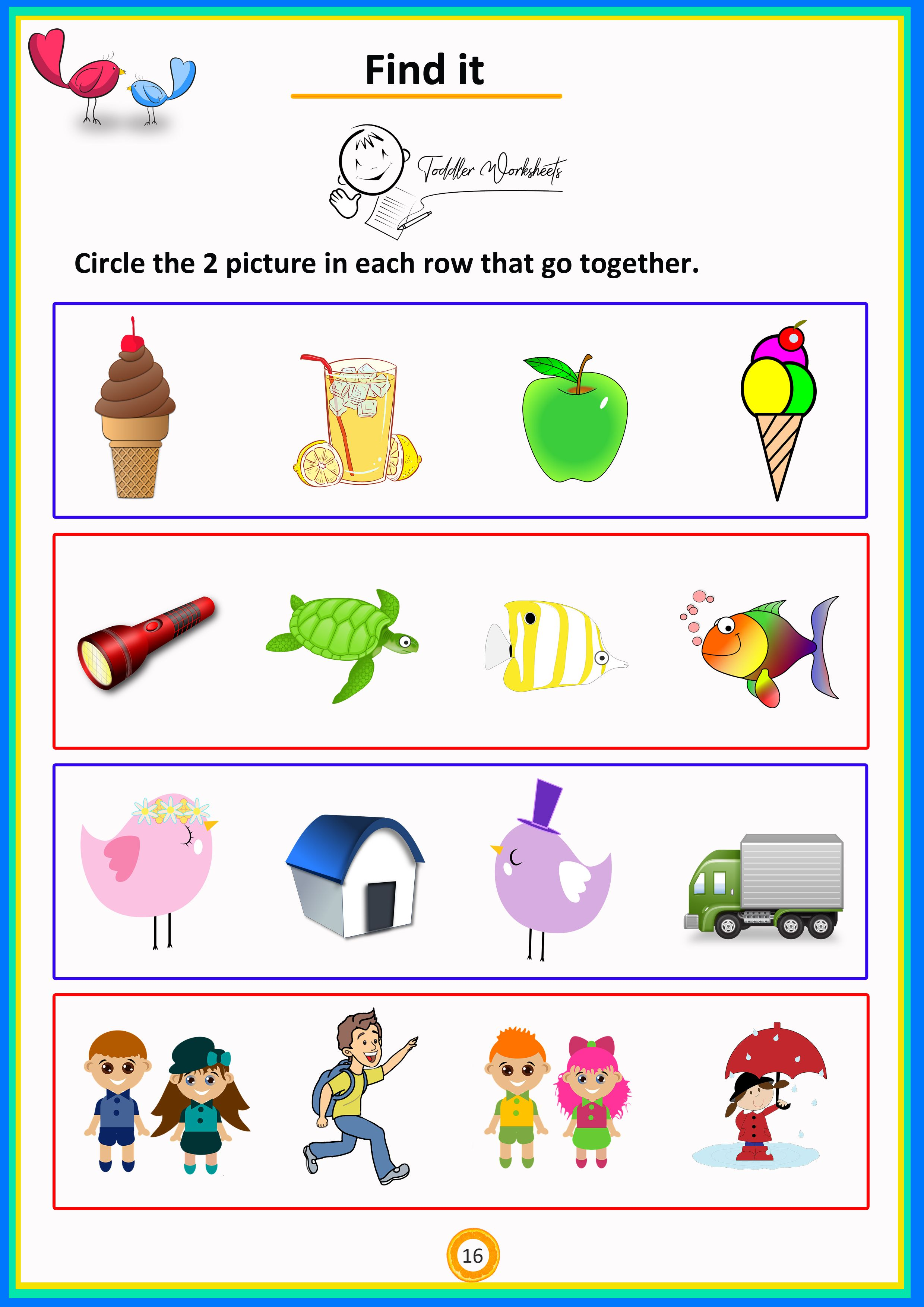 Find It 8 Simple Math Worksheets For Toddlers Preschoolers