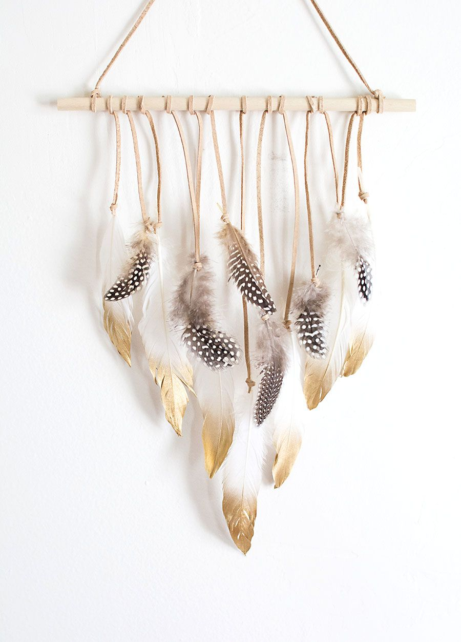DIY Feather Wall Hanging - | Feathers, Wall hangings and ...