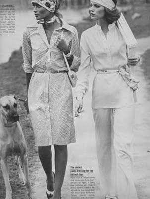 Shelley Hack & Beverly Johnson Vogue 1974