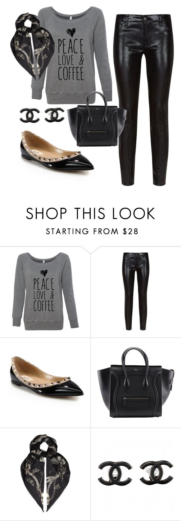 """""""coffee time"""" by silviarollina ❤ liked on Polyvore featuring J Brand, Valentino, Alexander McQueen and Chanel"""