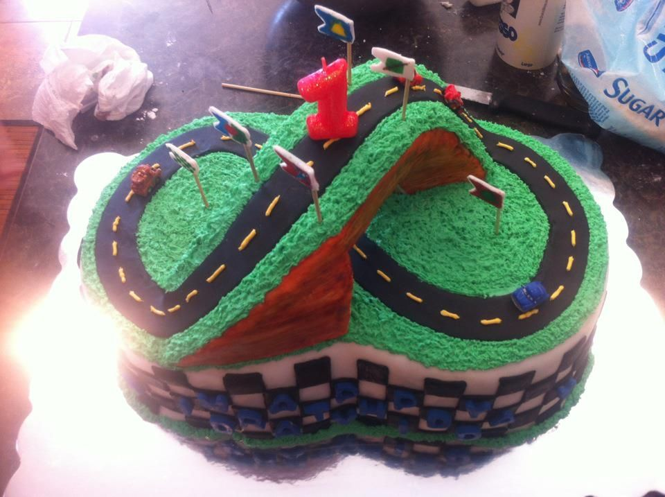Race Track Cars Cake With Edible Bridge My Cake Collection