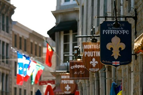 Montreal Canada Old Town Signs Airport Car Hire