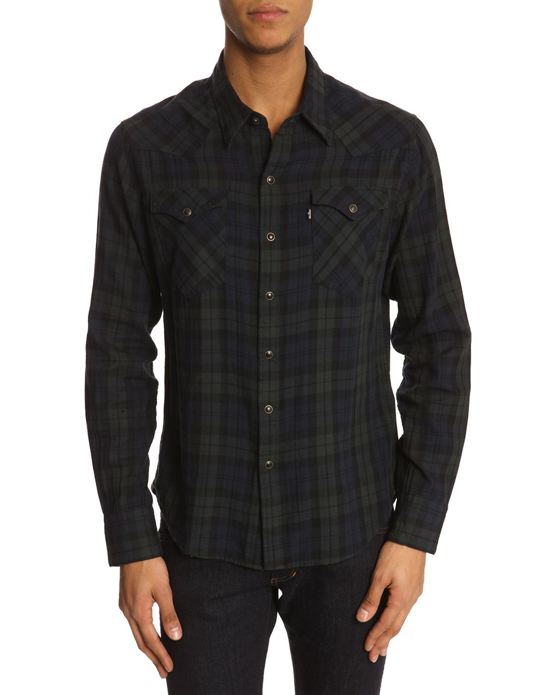 Blue and Green Tartan Shirt by LEVI'S — £65.57