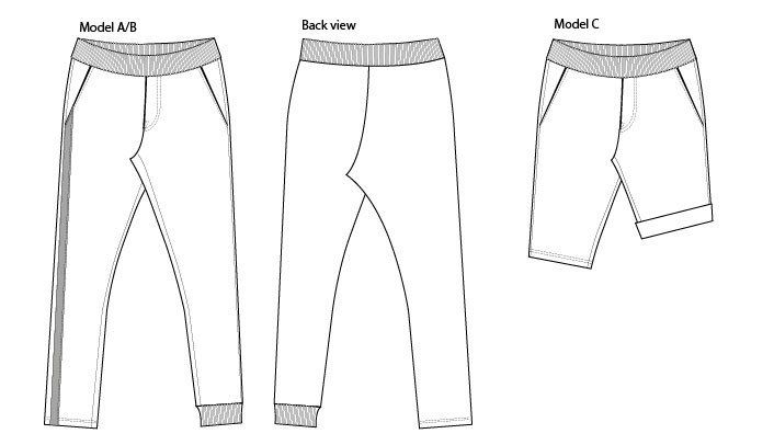 sweatpants PDF sewing pattern variations   My Pattern List   Pinterest