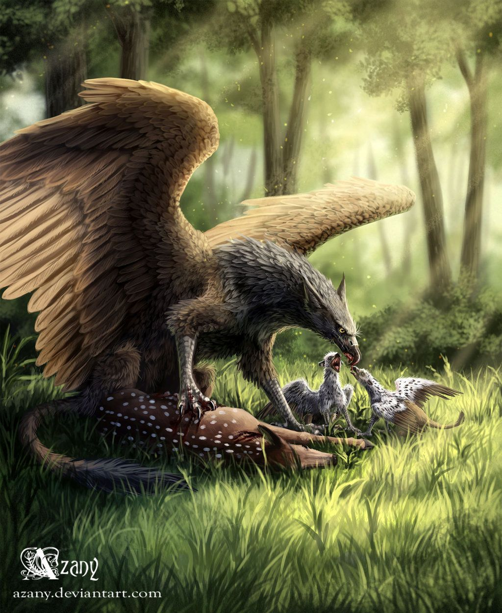 Griffin by azany fantasy pinterest mythical for The griffin