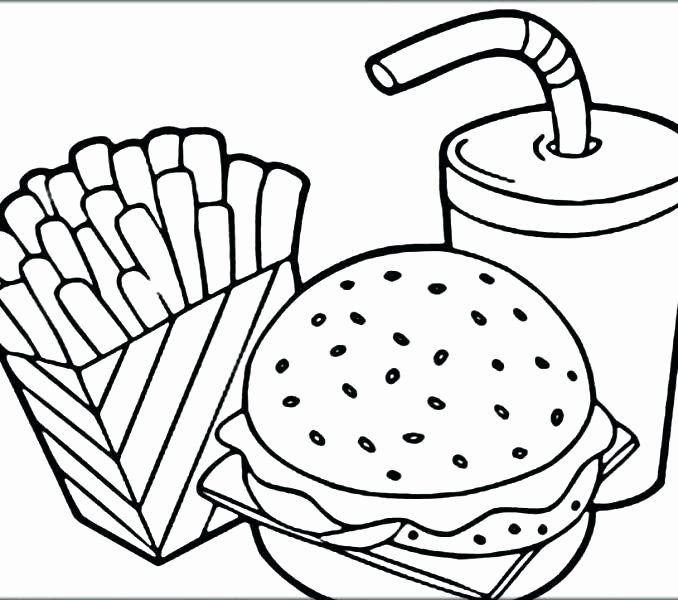 Printable Food Coloring Pages Luxury Breakfast Food Coloring Pages At Getcolorings In 2020 Food Coloring Pages Pizza Coloring Page Free Coloring Pages