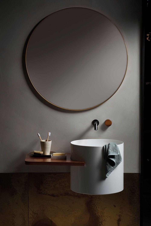 Sheet Metal Gallery Axolotl In 2020 Round Mirror Bathroom Metal Decor Caroma