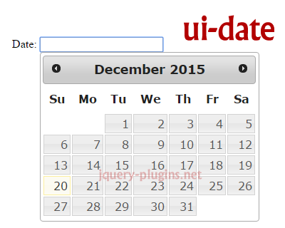 ui-date – jQuery UI Datepicker for AngularJS #date #jQueryUI