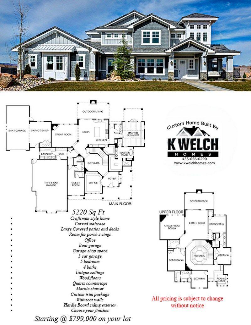 Above 4500 Sq Ft Custom Home Plans Dream House Plans Custom Homes