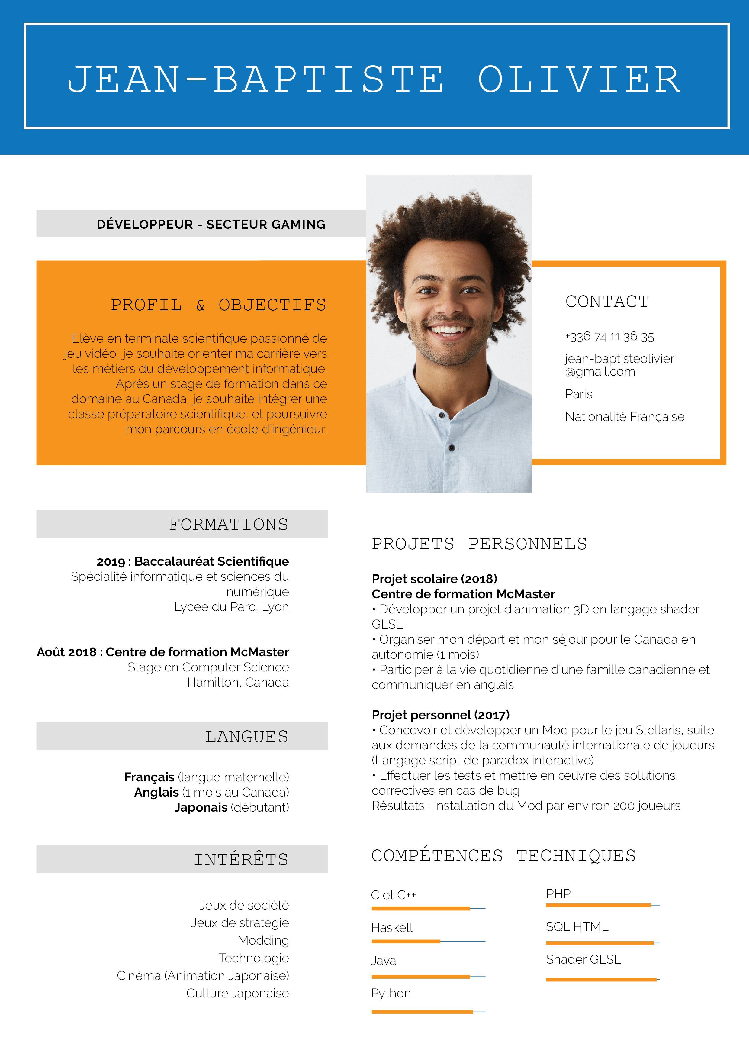 Epingle Par My Cv Factory Sur Cv Parcoursup Cv Etudiant Modele Cv Redaction De Cv