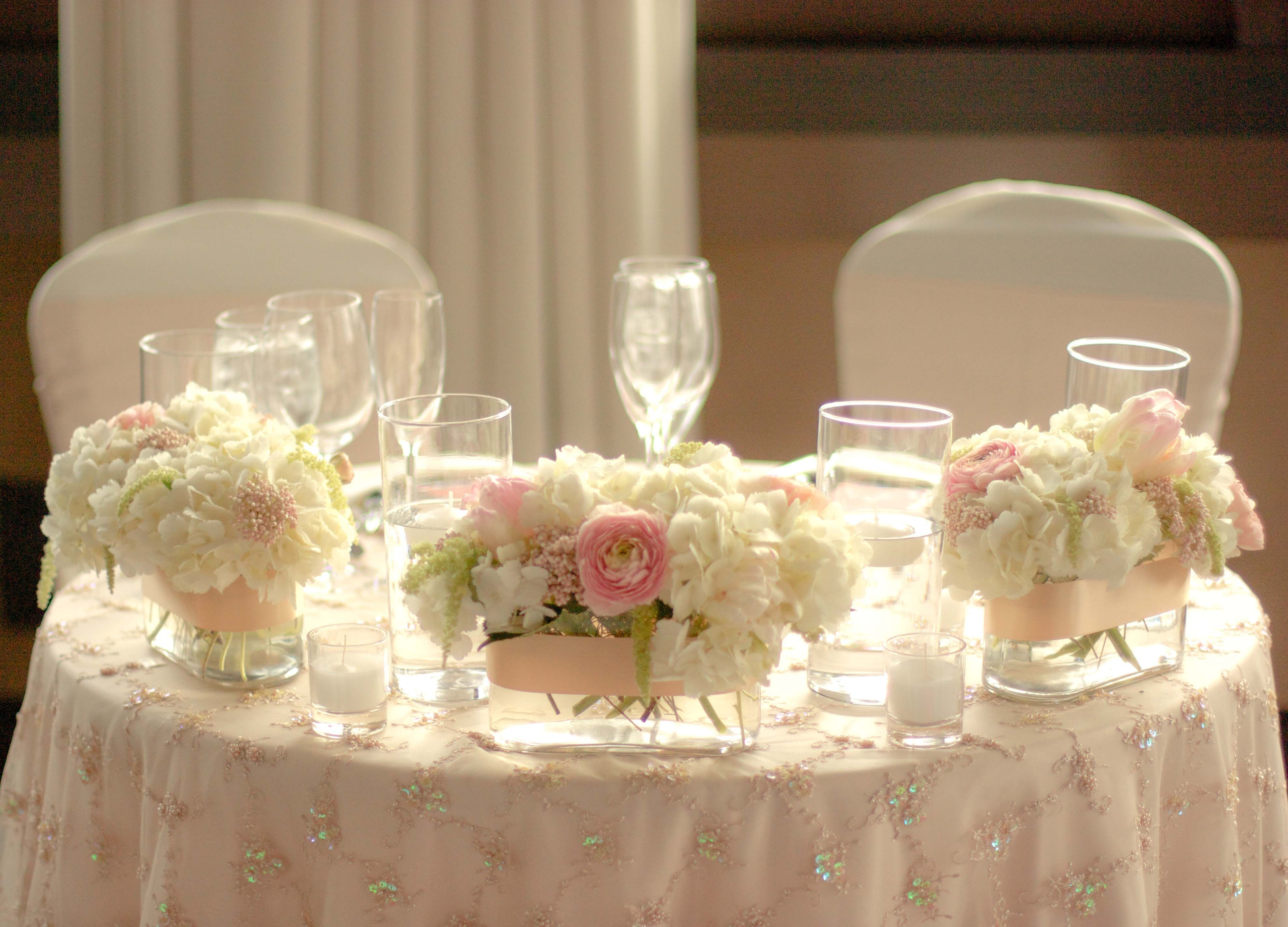 sweetheart table decor flowers and overlay my vintage wedding rh pinterest com