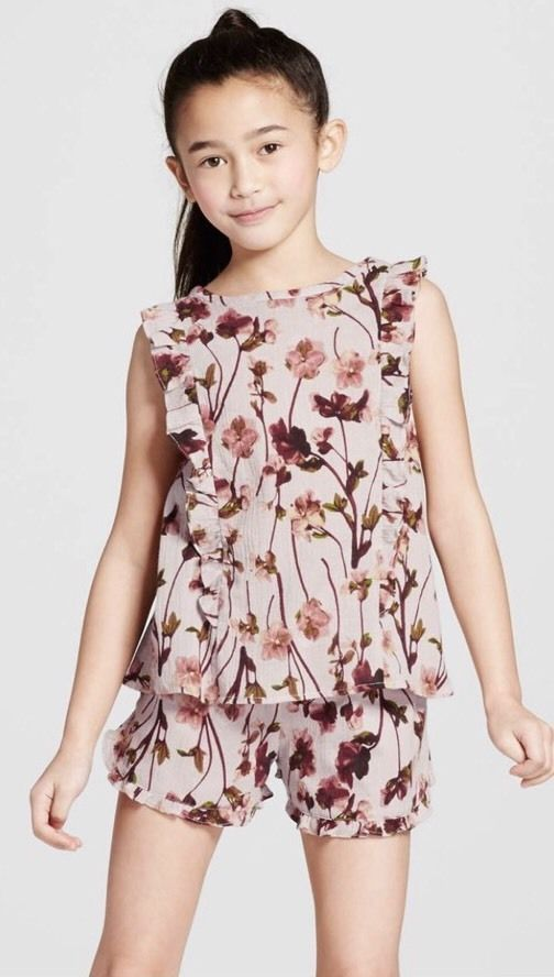18244c17c759c4 VICTORIA BECKHAM FOR TARGET GIRLS' TOP NWT M PINK 100% COTTON SLEEVELESS  FLORAL   Clothing, Shoes & Accessories, Kids' Clothing, Shoes & Accs, ...